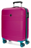 ABS cestovný kufor Roll Road India Fuchsia 55 cm