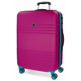 ABS cestovný kufor Roll Road India Fuchsia 69 cm