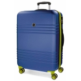 ABS cestovný kufor Roll Road India Blue 79 cm
