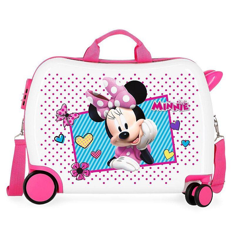 0a4dc279e28aa Detský kufrík na kolieskach, ktorý využijete aj ako odrážadlo, detský kufor  Minnie s objemom 34l