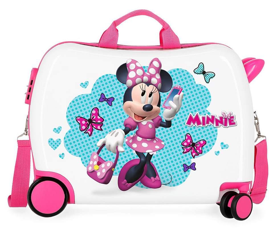 4bba61113626b Detský kufrík na kolieskach Minnie Good Mood MAXI