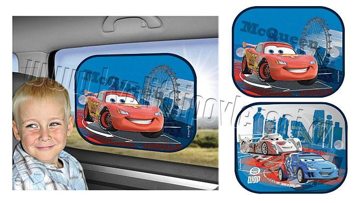 Slnečná clona Cars modrá (slnečná clona, tienidlo Cars modrá)