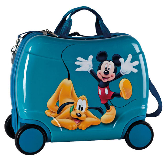 269e455ac519c JOUMMABAGS detský kufrík na kolieskach Mickey a Pluto blue 2014 46x30x21 cm