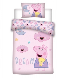 Obliečky do postieľky Peppa Pig dream