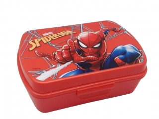Box na desiatu Spiderman red