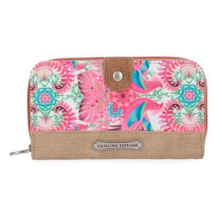 9ae8341003 Luxusná peňaženka Catalina Estrada Faisan ružová empty