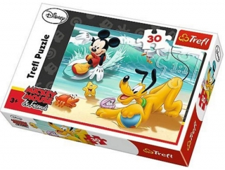 Puzzle Mickey Mouse a Pluto 30 dielikov
