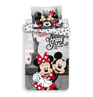 Obliečky Mickey a Minnie v New Yorku Love